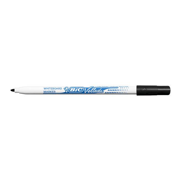 BIC Velleda 1721 Black Fine Drywipe Markers, Pack of 24 - 841842
