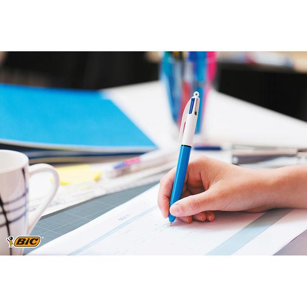 Bic 4 Colour Retractable Ballpoint Pen Blister (Pack of 10) 8032232