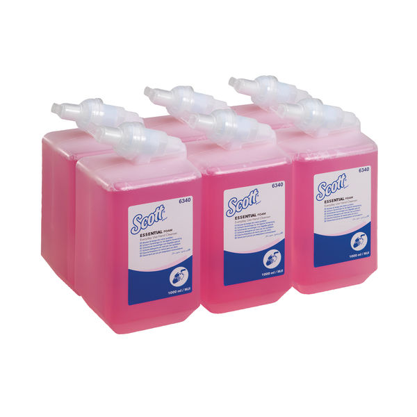 Kleenex 1L Pink Aqua Foam Hand Soap Refill (Pack of 6) – 6340
