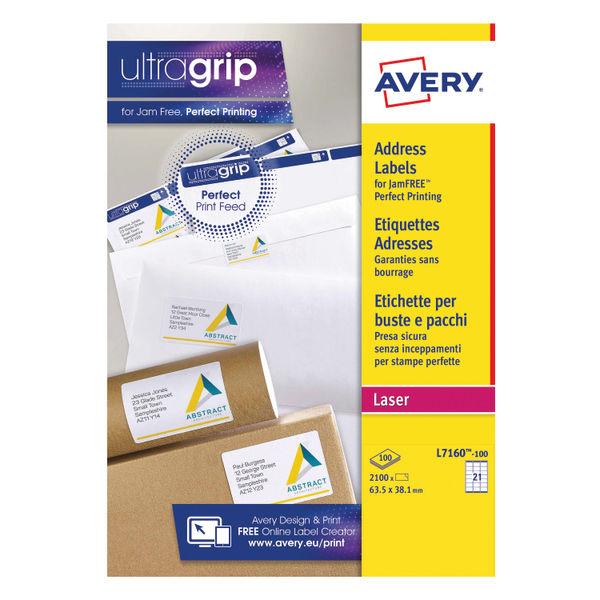 Avery Address Laser Labels (21 Labels Per Sheet) 100 Sheets | Avery L7160
