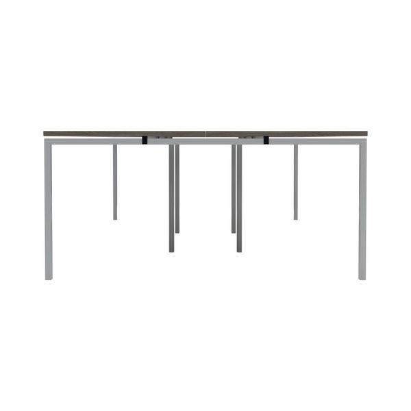 Jemini 1200mm Grey Oak/White Six Person Bench Desk