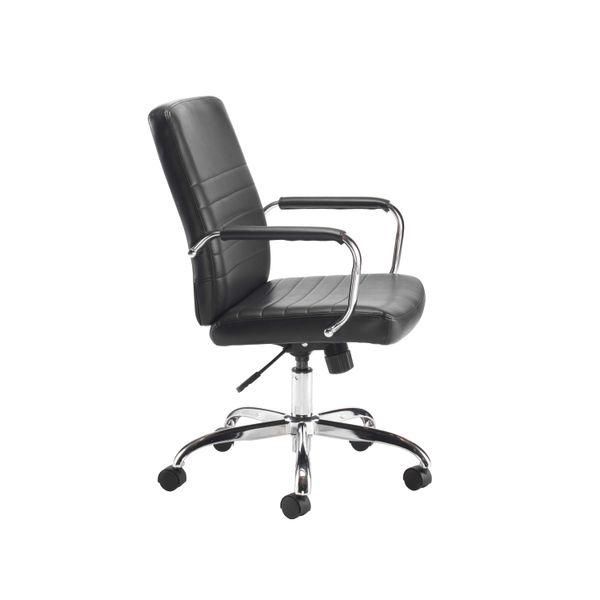 Jemini Amalfi Black Leather Look Office Meeting Chair