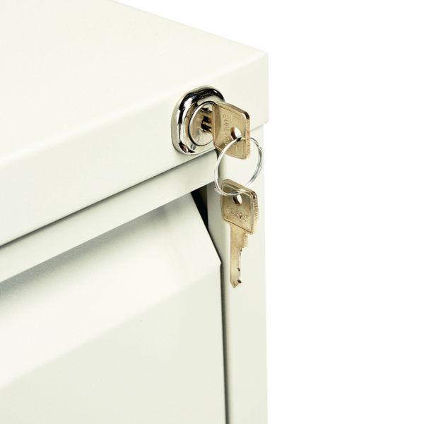 Jemini 1321mm White 4 Drawer Filing Cabinet