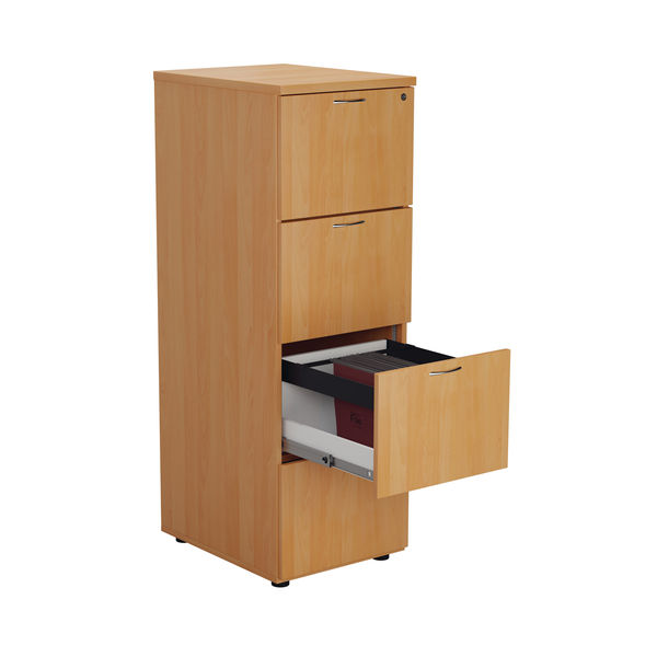 Jemini V2 1365mm Beech 4 Drawer Filing Cabinet