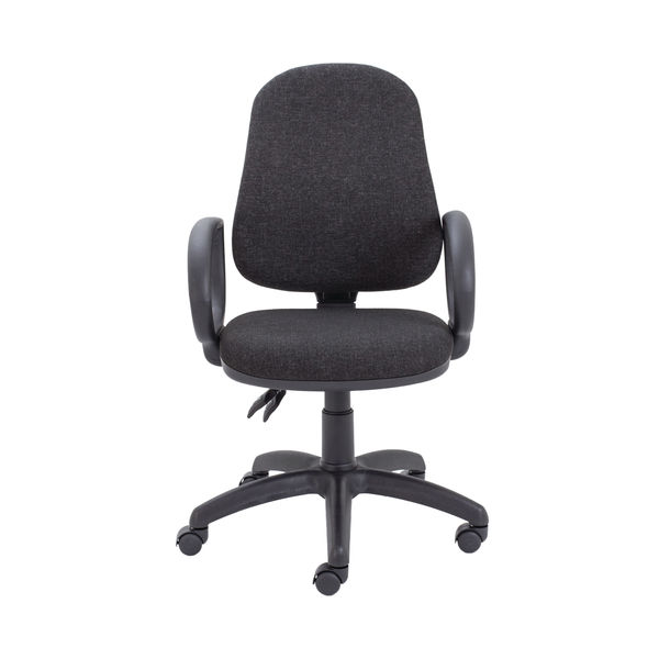 First Charcoal High Back Fixed Arms Operators Office Chair