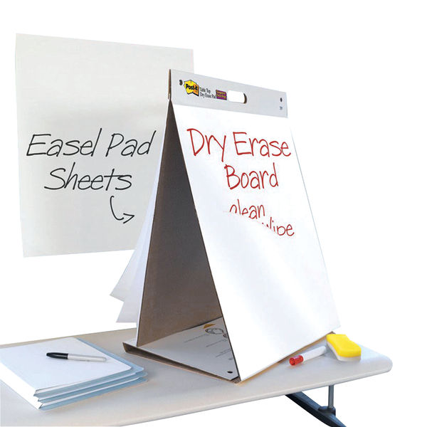 Post-it Super Sticky Tabletop Easel Pad and Dry Erase Board   563-D3