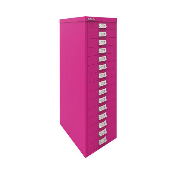 Bisley 860mm Fuschia 15 Drawer Cabinet - BY78743