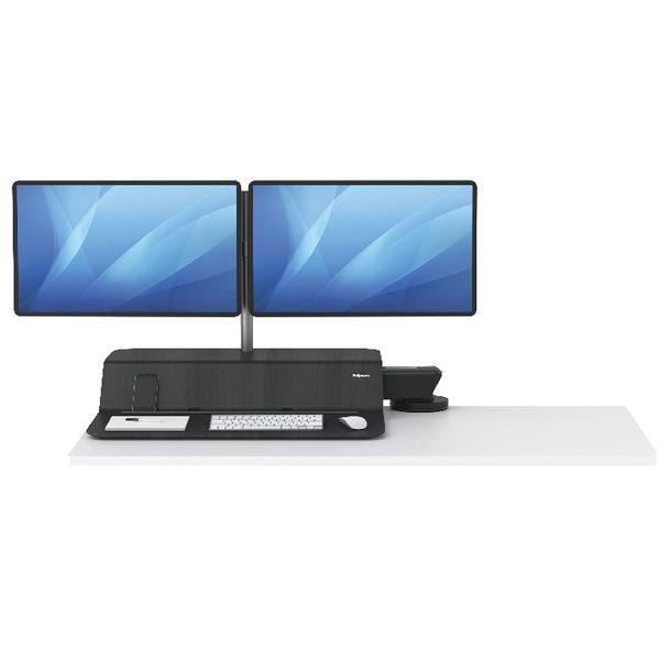 Fellowes Lotus Sit Stand Dual Screen Work Station – 8081601