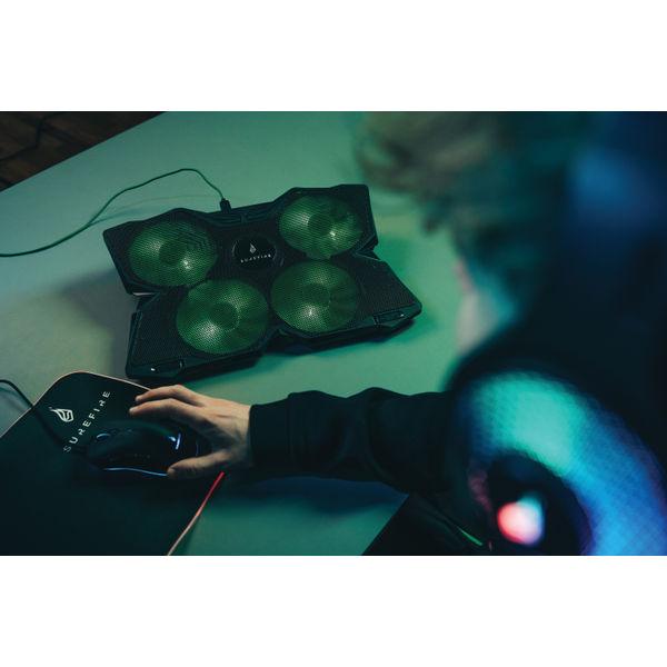 SureFire Bora Gaming Laptop Cooling Pad Green 48818