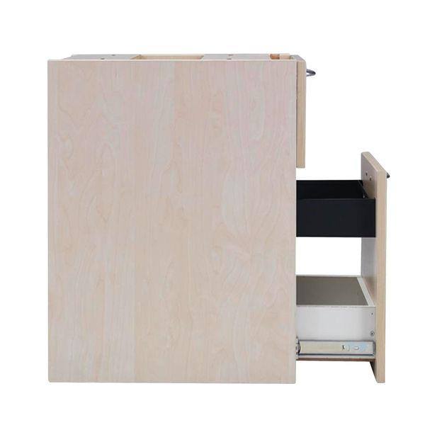 Jemini 580mm Maple 3 Drawer Under Desk Pedestal