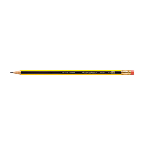 Staedtler Noris HB Pencil with Rubber Tip 122SW [12 Pack] 122-HBRT