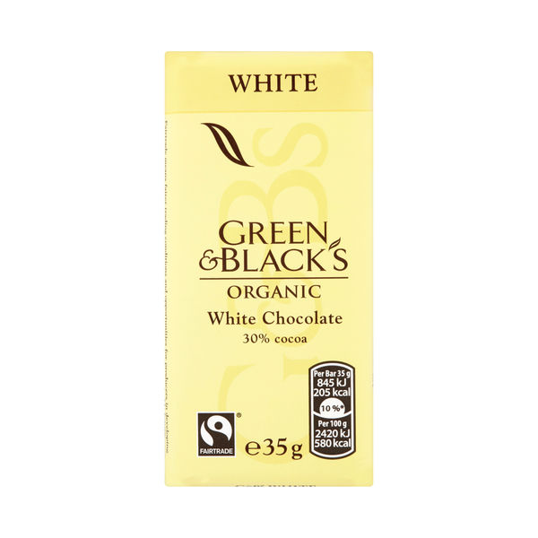 Green and Blacks 35g White Chocolate Bars, Pack of 30 - 611637