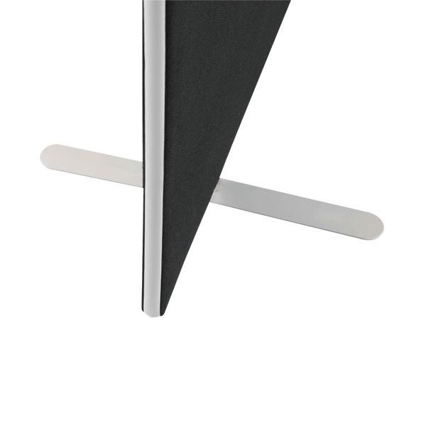Jemini W1600 x H1200mm Black Floor Standing Screen
