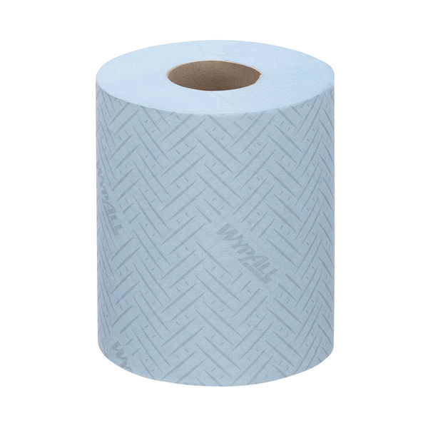 WypAll L10 Food Hygiene Centrefeed Paper Rolls 1-Ply 6 Rolls/430 Wipes Blue (Pack of 2580) 6223