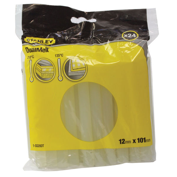 Stanley 4 Inch Dual Melt Glue Stick, Pack of 24 - 0-GS20DT