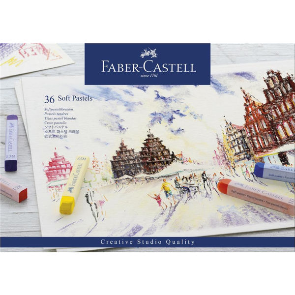 Faber-Castell Creative Studio Soft Pastels Box of 24  FC128336