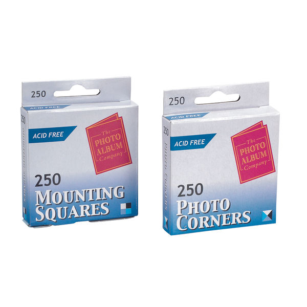 TPAC Clear Photo Corners, Pack of 250 | PC250