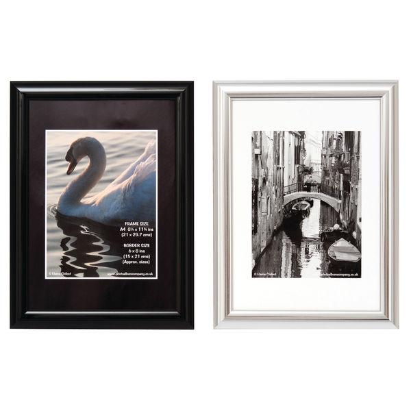 TPAC Photo Black A4 Certificate Frame - PILA4SHIN-Black