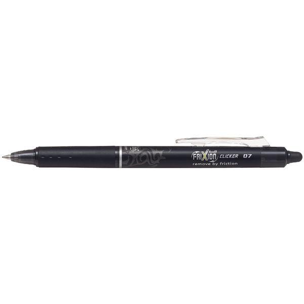 Pilot FriXion Black Erasable Clicker Pens, Pack of 12 - 229101201
