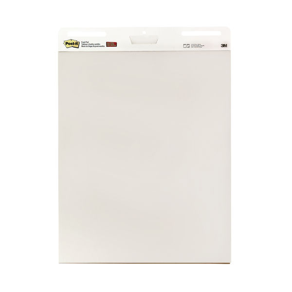 Post-It Meeting Chart Pad 635mm x 775mm White Paper (Pack of 2) 559
