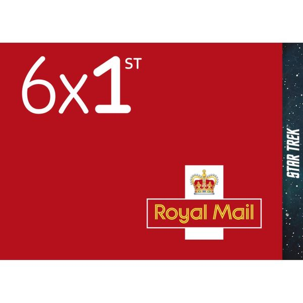 1st Class Stamps x 6 Pack - (Postage Stamp Book) Star Trek