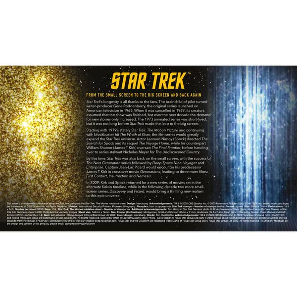 Star Trek Souvenir Miniature Sheet Cover