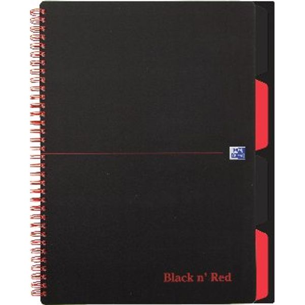 Black n Red A4 Plus Project Books - Pack of 3 - K66070