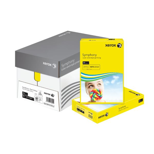Xerox Symphony Dark Yellow A4 Paper, 80gsm - 500 Sheets - 003R93952
