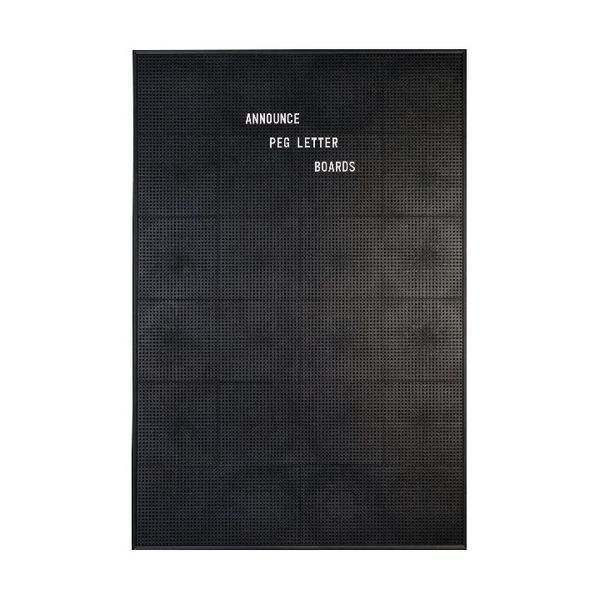 Announce 920 x 615mm Peg Letter Board - 1/ECON-4/VC/EC-KIT692