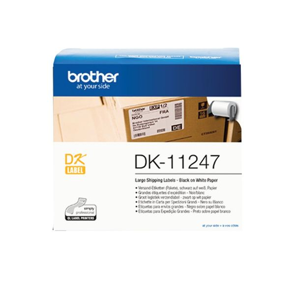 Brother Black on White Shipping Label Roll 103 x 164mm DK-11247