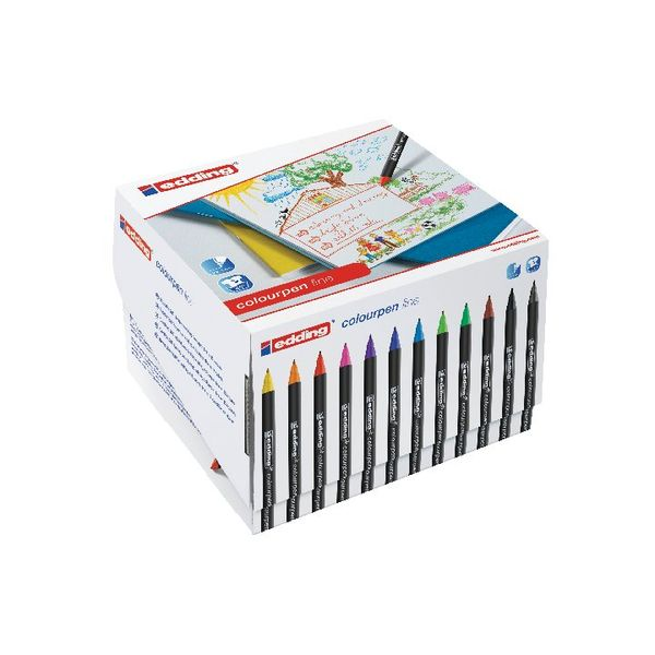 Edding Assorted Colourpen Fine Line Pens, Pack of 288 - 300460000