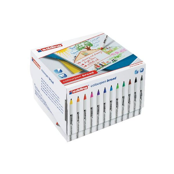 Edding Assorted Colourpen Broad Colouring Pens, Pack of 288 - 300461000