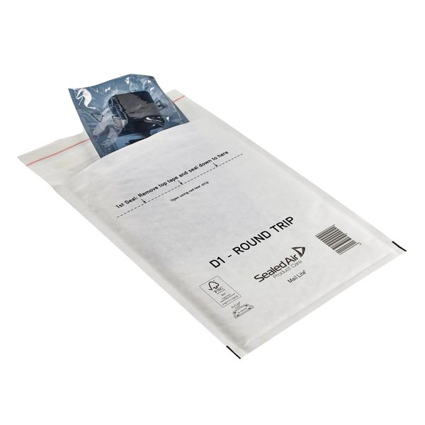 Mail Lite Round Trip Padded Mailer D1 180 x 260mm White Pack of 100 100935833