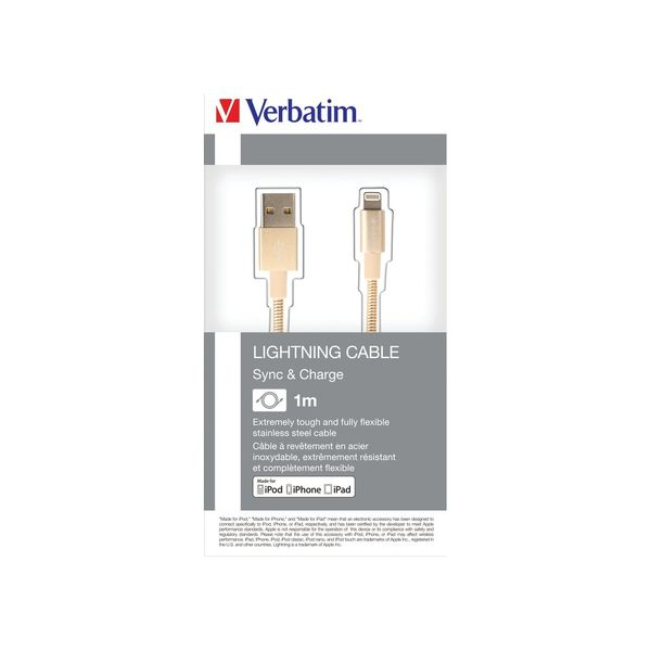 Verbatim Gold 100cm Lightning Sync and Charge Cable - 48861