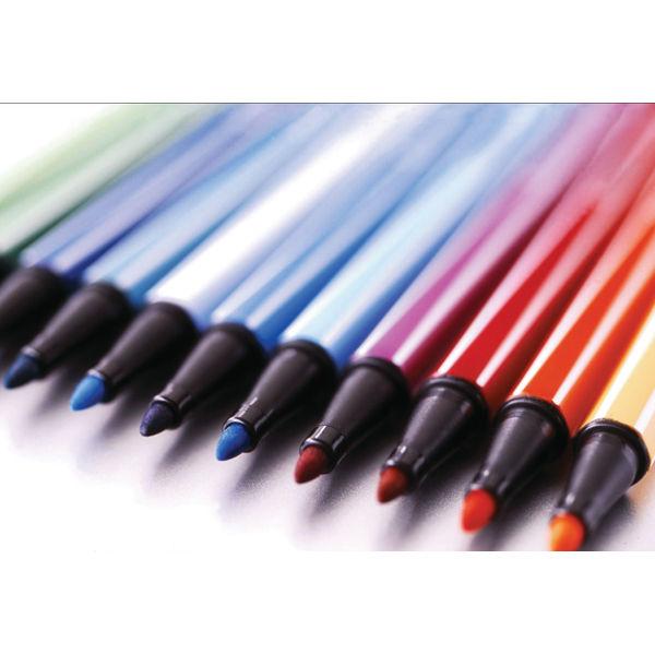 Stabilo Pen 68 Felt Tip Pen 1mm Odourless Water-based Ink Assorted (Pack of 10) 6810/PL