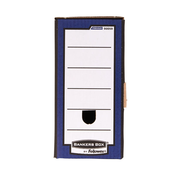 Bankers Box Premium 127mm Transfer File Blue (Pack of 5) 5905