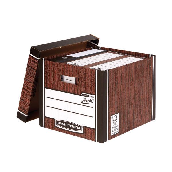 Bankers Box Premium Tall Box Woodgrain (Pack of 5) 7260520