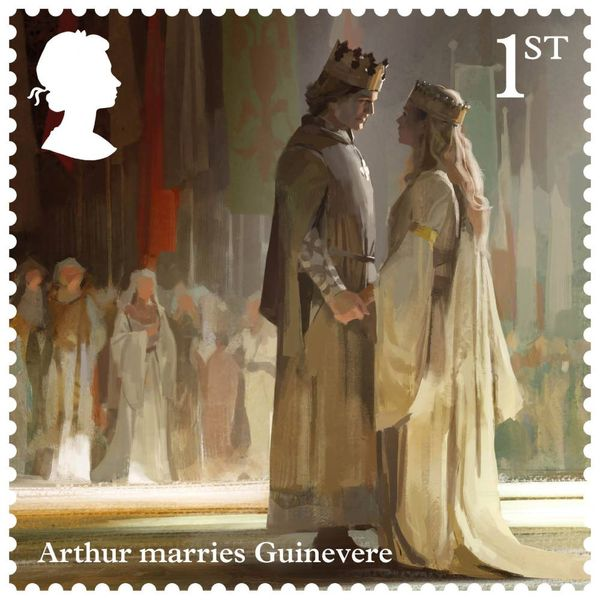 1st Class Stamps x 50 (Postage Stamp Sheet) – Legend of King Arthur