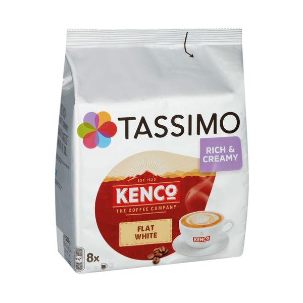 Tassimo Kenco Flat White Pods (Pack of 8) 4051498