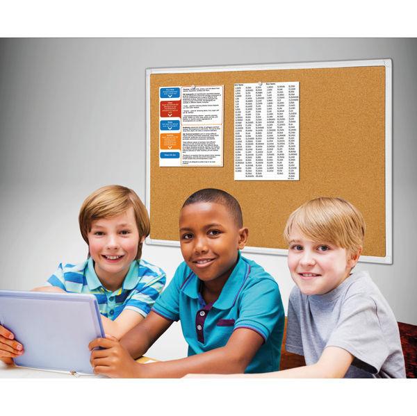 Bi-Office Antimicrobial Cork Board 900x600mm BCA031226