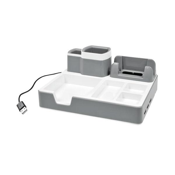 Monolith Black/White Plastic Desk Organiser – DO 003-17