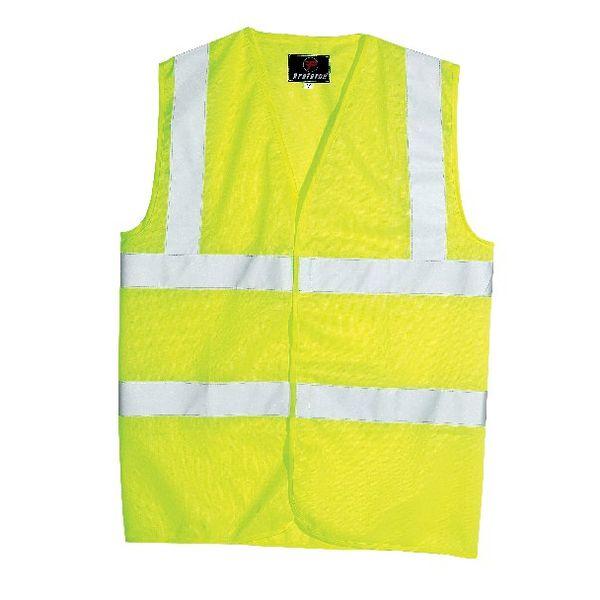 Proforce Large Yellow High Visibility 2-Band Waistcoat - 0801122