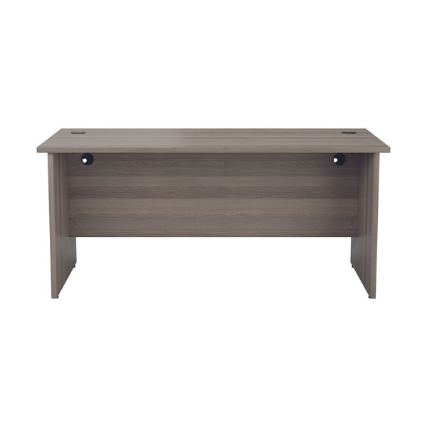 Jemini 1400mm Grey Oak Rectangular Panel End Desk