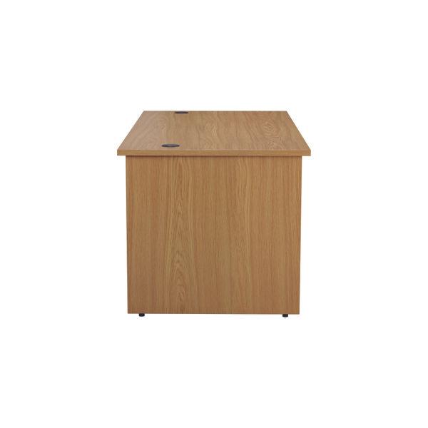 Jemini 1400mm Nova Oak Rectangular Panel End Desk