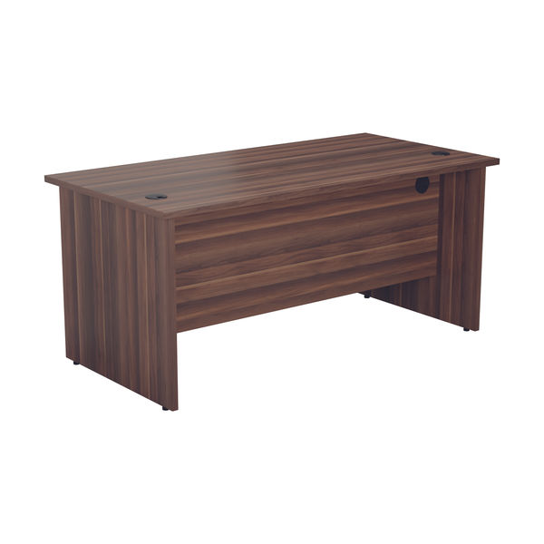 Jemini 1400mm Dark Walnut Rectangular Panel End Desk