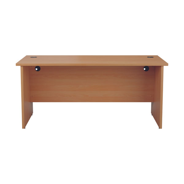Jemini 1600mm Beech Rectangular Panel End Desk