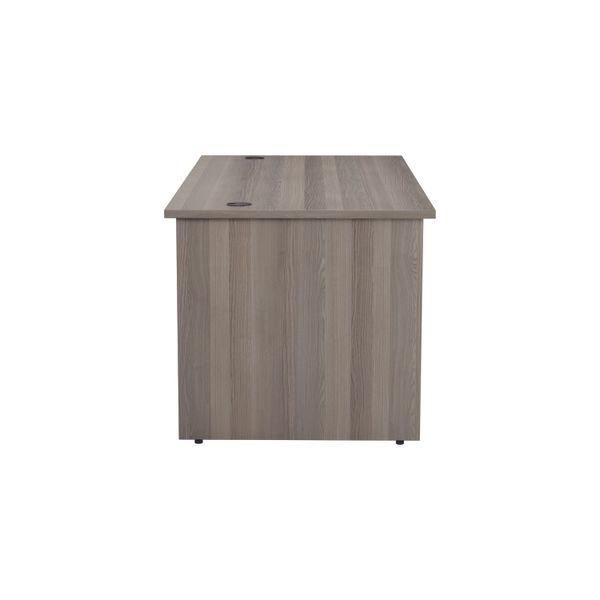 Jemini 1600mm Grey Oak Rectangular Panel End Desk