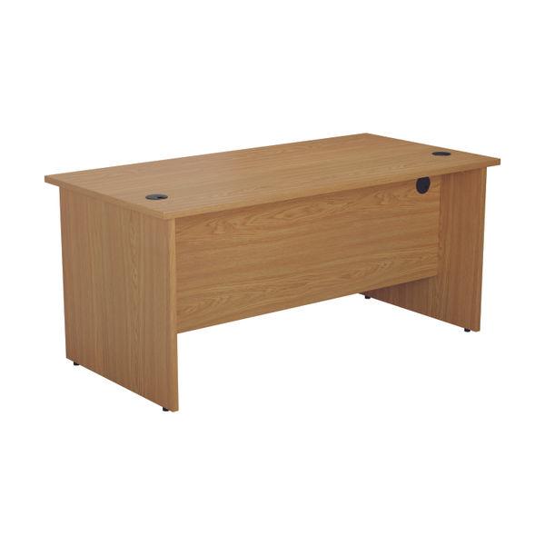 Jemini 1600mm Nova Oak Rectangular Panel End Desk