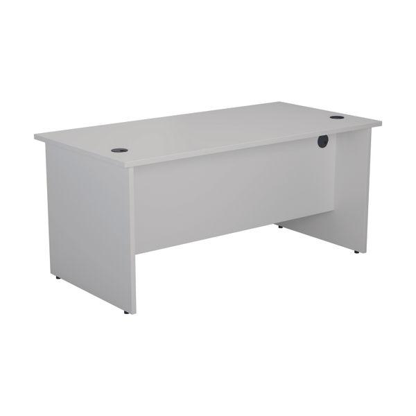 Jemini 1600mm White Rectangular Panel End Desk