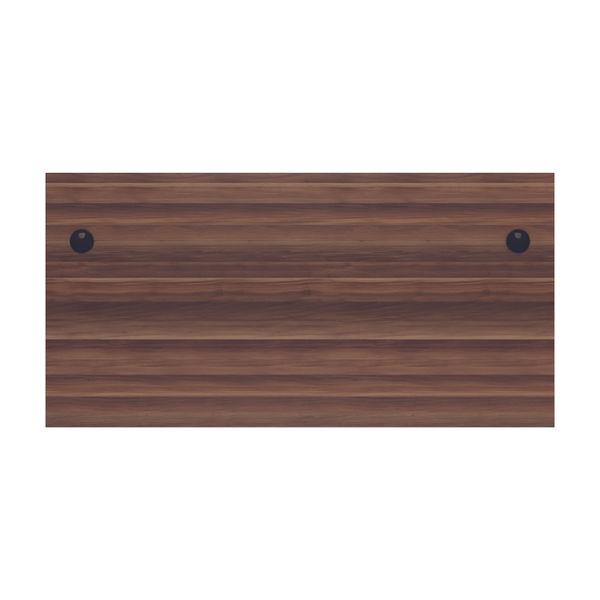 Jemini 1600mm Dark Walnut Rectangular Panel End Desk